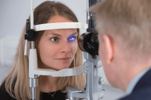 female having laser eye surgery again
